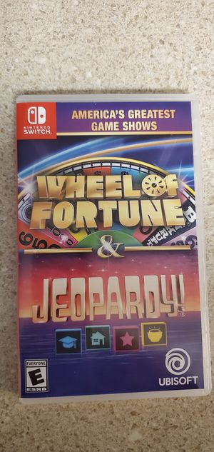 New 2 In 1 Wheel Of Fortune And Jeopardy Game For Nintendo Switch for Sale in Glassboro, NJ