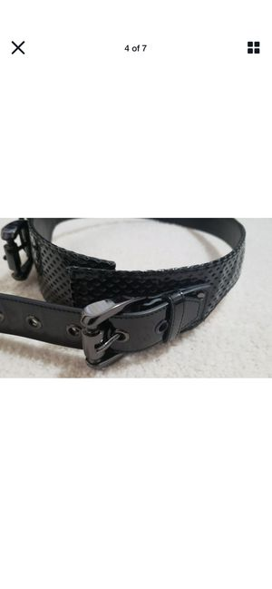 Authentic BURBERRY black perforated patent leather Double Buckle Waist Belt for Sale in Mesa, AZ
