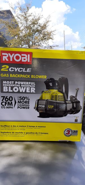 NEW RYOBI 2 CYCLE BACKPACK BLOWER for Sale in NEW PRT RCHY, FL