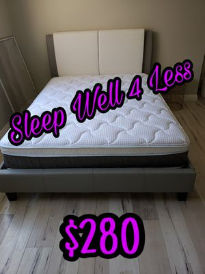 NEW💥QUEEN BED💥PILLOW TOP MATTRESS INCLUDED💥IN STOCK💥 for Sale in Bellflower, CA
