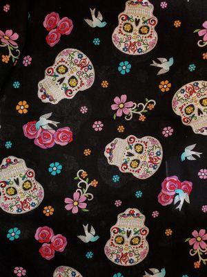 Glitter sugar skull fabric for Sale in Dixon, MO