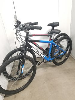 "2 X Nishiki mountain Bikes Both For 490$ Size 16"" And 18"" for Sale in Sierra Madre,  CA"