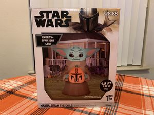 Star Wars Mandalorian The Child Baby Yoda Inflatable for Sale in Reedley, CA