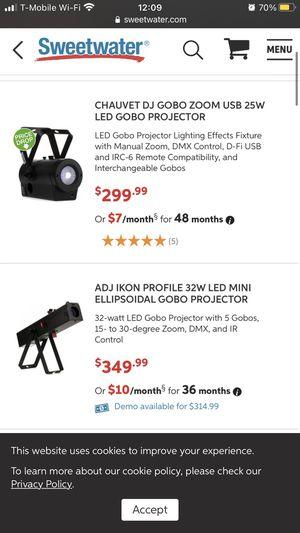 GoBo Zoom Jr & ADJ Ikon Profile Projector for Sale in Stockton, CA