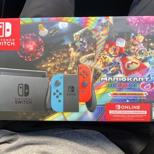 Nintendo Switch Console + Mario Kart 8 Deluxe (Download) + 1 Month Individual Membership for Sale in Downey, CA