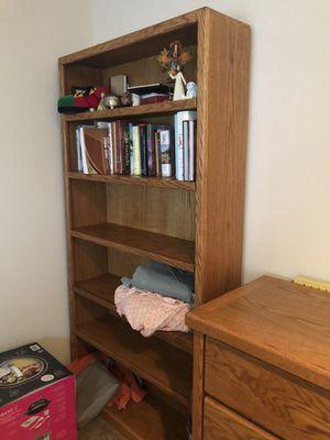 Solid oak 6' tall bookcase for Sale in Seattle, WA