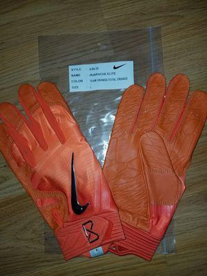Brand New Nike Huarache Elite Team Orange/Total Orange Baseball Batting gloves Adult Large Giants, Orioles for Sale in La Puente, CA