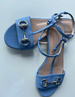 Gucci mineral blue sandals (Size 5(35.5) for Sale in Aurora, CO