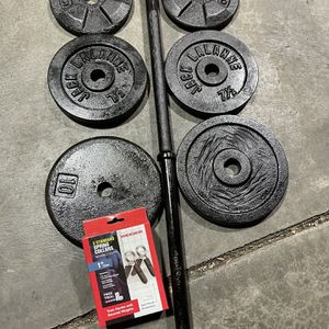 Steel Barbell With Quality Weights for Sale in Lake Stevens, WA