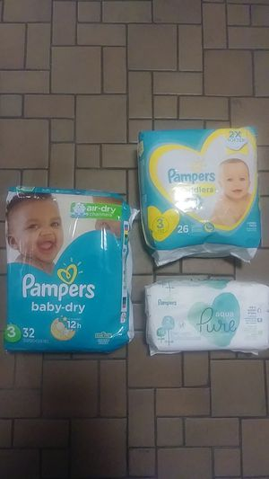 Pampers size 3 for Sale in East Providence, RI