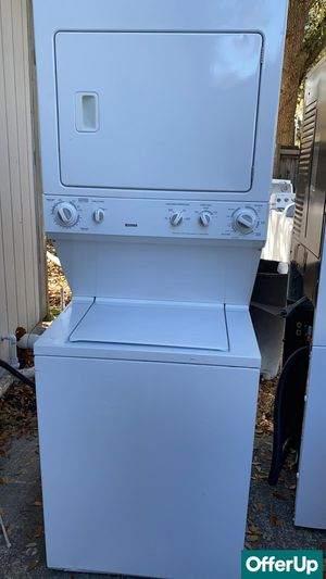 Laundry Center Washer Electric Dryer Set Kenmore Works Perfect #1266 for Sale in Melbourne, FL
