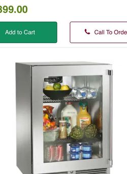 New! In box Perlick Built outdoor refrigerator w glass. HP24rO-3-3r. 24 on sale! M for Sale in Miami,  FL