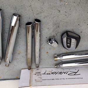 8 Pcs Of Harley Davidson 6 Mufflers, 1 Horn Cover, & 1 114 Cubic Inches Stock Air Filter Cleaner (Used Condition) $450 OBO. for Sale in Lake Worth, FL