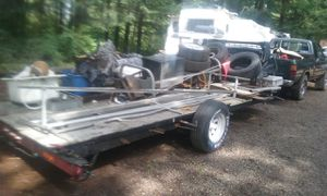 16' deck flat bed trailer. Trade for cheap car for Sale in Vancouver, WA