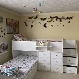 L-shape Twin Captain Beds With Drawers for Sale in Herndon, VA