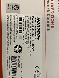 Hikvision 2.8mm IR Network Camera. DS-2CD2132f-I for Sale in Portland,  OR