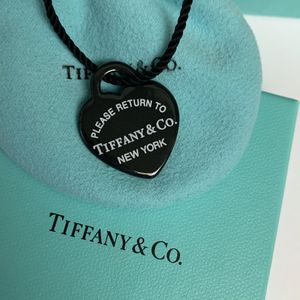 RARE Tiffany & Co. Black Bone China Heart Necklace for Sale in Largo, FL