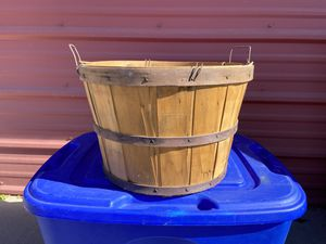 Wood basket for Sale in Benton City, WA