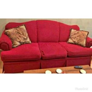 Gorgeous cherry red sofa couch 3 seater for Sale in Takoma Park, MD