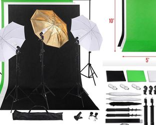 Photography Video Studio 3 Lighting Kit. Portraits Bloggers, YouTube, Fashion, Cinema, Zoom, Gaming, Instagram for Sale in Chino,  CA