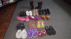 Girls Size 11 Flip Flops, Sandals, Dress Shoes, Boots, Cleats, Jordans, Nike Shoes for Sale in Fort Leonard Wood, MO