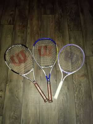 4 tennis rackets for Sale in West Valley City, UT
