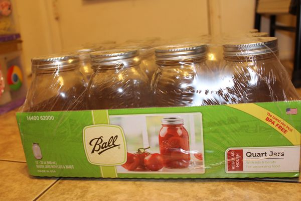 Ball Mason Jars 12 pack 32 oz