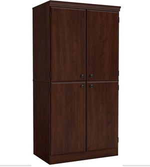 New Tall 4 Door Storage Cabinet in Cherry for Sale in Gilbert, AZ