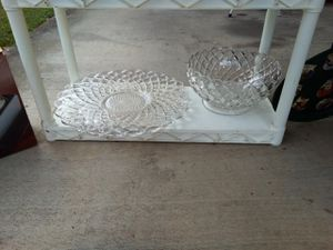 Pressed Glass platter and punch bowl for Sale in Buena Vista, VA