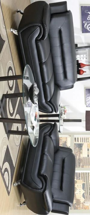 Special for Black Friday ‼ SALES Enna Black Sofa & Loveseat | U2701 271 for Sale in Jessup, MD