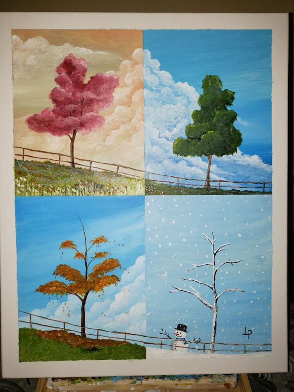 seasons of the year in acrylic