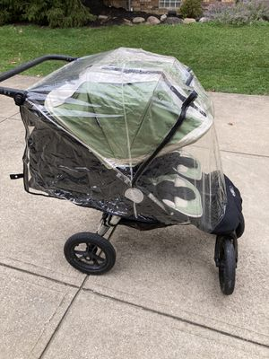 Baby Jogger City Elite double stroller w/ Rain Cover for Sale in Cleveland, OH