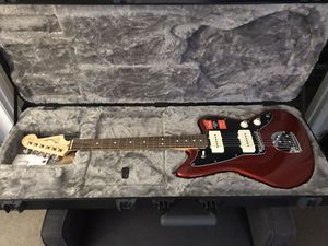New American Fender Jazzmaster Pro Guitar with hard case for Sale in Yorba Linda, CA