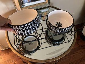 Cute Modern Dog water/food bowls for Sale in Santa Monica, CA