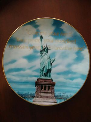 Statue of Liberty, Freedom's First Lady Plate for Sale in Houston, TX