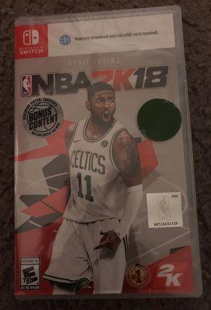 NBA 2k18 Nintendo Switch for Sale in Dearborn, MI