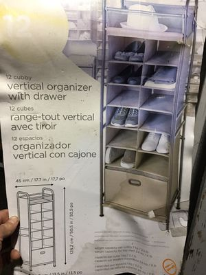 Vertical organizer with drawer for Sale in West Linn, OR