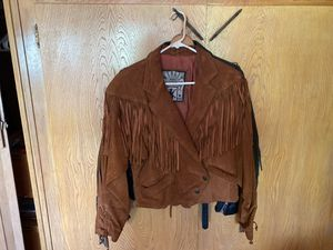 Small suede fringe women's jacket for Sale in Modesto, CA