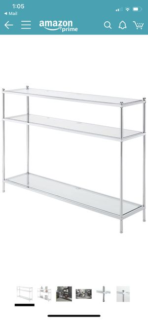 Console table glass/chrome for Sale in Piscataway, NJ
