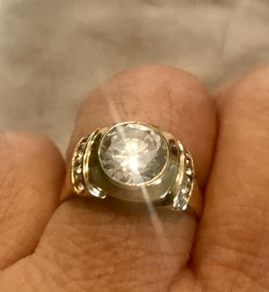 14k Gold mens cubic zirconia ring for Sale in Hobe Sound, FL
