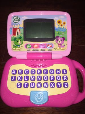 Kids learning computer laptop leapfrog fisher price toys baby toys game numbers shapes music instrument mouse Mac clothes light chandelier desk libra for Sale in Tampa, FL