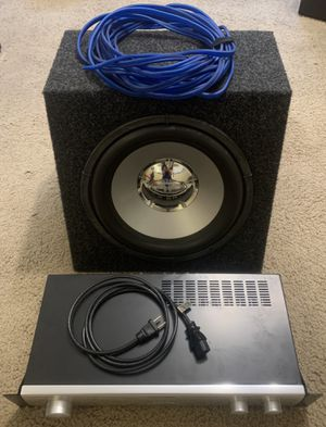 Definitive Technology SubAmp 600 Home Theater Subwoofer Amplifier + Rockford Fosgate Sub in Box for Sale in Boulder, CO