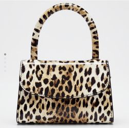 BY FAR Patent Leather Leopard Mini Top Handle Bag for Sale in Gibbsboro,  NJ