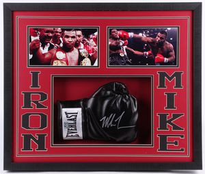 Mike Tyson Signed Custom Framed Boxing Glove Shadowbox Display ( Fiterman Hologram ) for Sale in Austin, TX