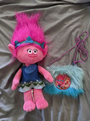 Trolls poppy plush and purse for Sale in Palm Springs, FL