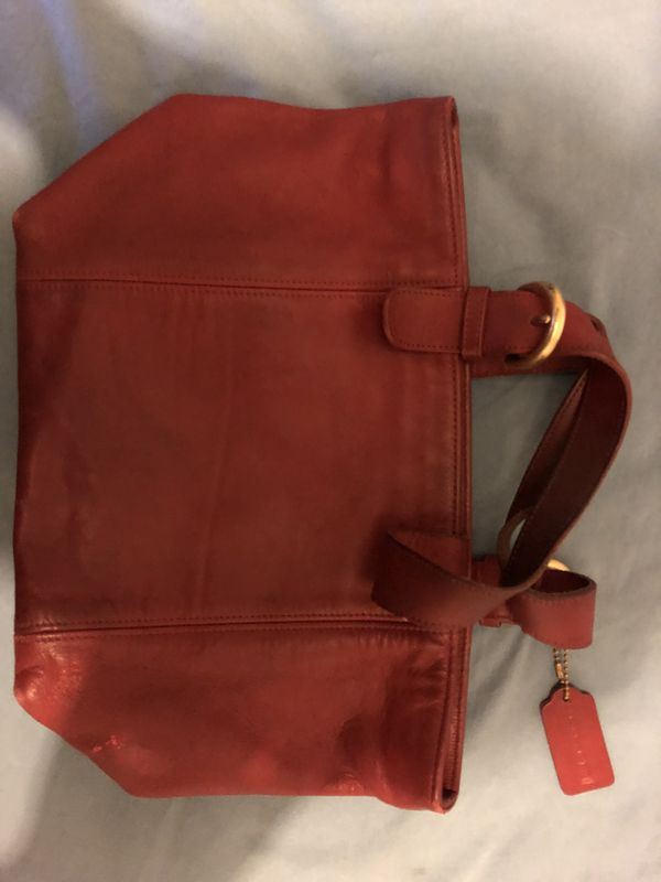 Brand new Red Leather Coach Purse