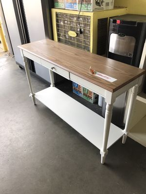 Convenience Concepts French Country Driftwood and White Console Table for Sale in Fresno, CA