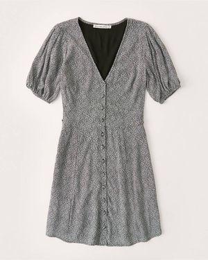 A&F Puff-Sleeve Button-Front Mini Dress for Sale in Reston, VA