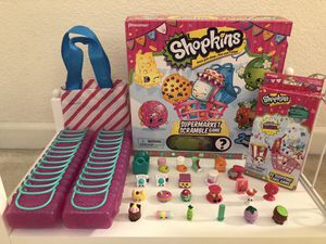 Shopkins Variety Set + two plushies for Sale in Hayward, CA