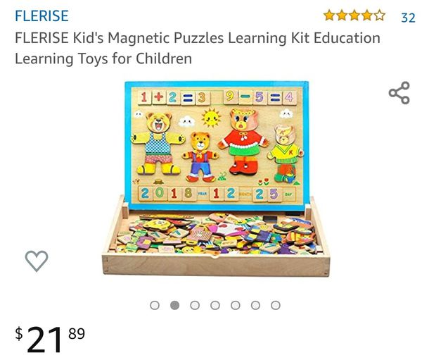 Magnetic learning puzzle